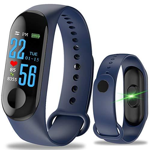 YUYLE Smartwatches heren dames smartwatches sportarmband fitness kleurendisplay bloeddrukmeter waterbestendig hartslagmonitor, Rosa Roja
