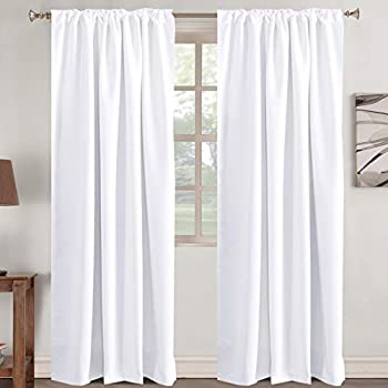 white black out curtains