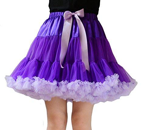 YSJ Women's Pettiskirt Tutu 3-Layered Petticoat Mini Lolita Dance Cosplay Skirt