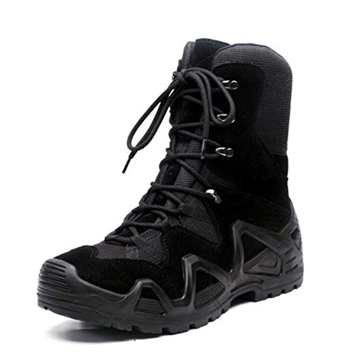 JOMSK Botas de caña Alta Tácticas Antideslizantes Resistentes al Desgaste High Top Trekking Shoes Magnum Winter Boots Hombres Senderismo (Color : Black, Size : 39)