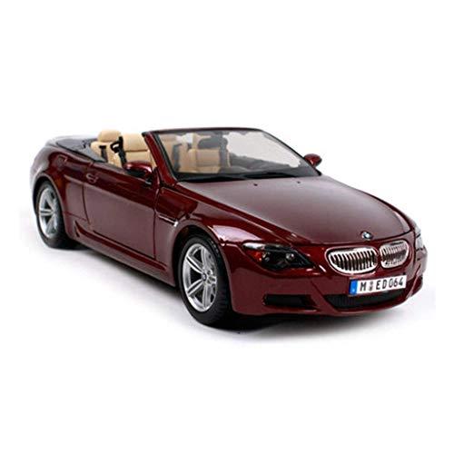 Jary Auto-Modell - 01.18 Simulation Legierung Auto-Modell Roadster Modell Auto, Größe: 270X107X62MM (Wein Red) li