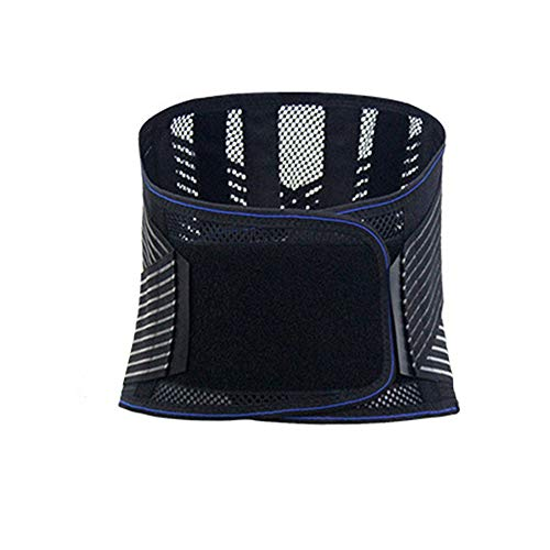 LSRRYD Adjustable Back Support Belt Back Support Brace Lumbar Support Brace for Pain Relief and Injury Prevention for Men Color Black Size Medium