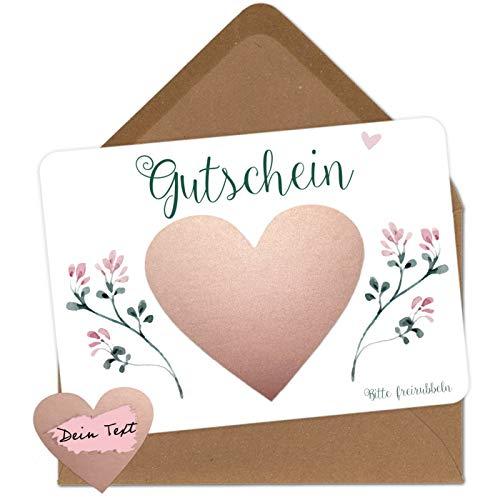 5 Rubbelkarten zum selber beschriften - Gutschein - Rubbellos für eigenen Text Geschenke Geschenkideen als Geschenk Gutschein zum Geburtstag