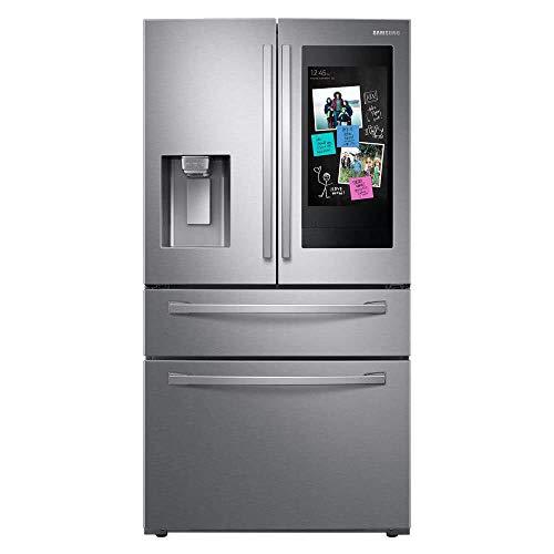 SAMSUNG RF22R7551SR 22.2 Cu. Ft. Family Hub 4-Door French Door Counter-Depth Fingerprint Resistant Refrigerator