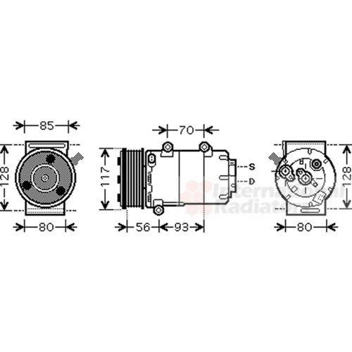 Van Wezel 1800K416 compresor del sistema de climatización