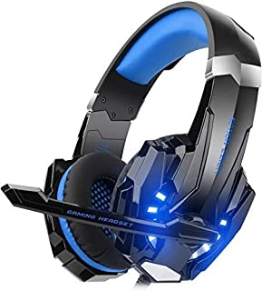 Mahmayi G9000 - Headband Headphones for One S / One / PS4 / tablet / laptop / mobile phone (0.138 in stereo jack, LED ligh...