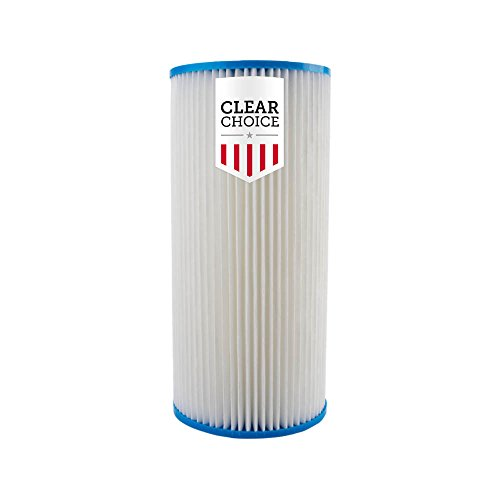 """Clear Choice Sediment Water Filter 30 Micron 10 x 4.50"""" Water Filter Cartridge Replacement 10 inch RO System 155101-43 R30-BB, WHKF-WHPLBB, 1-Pk"""