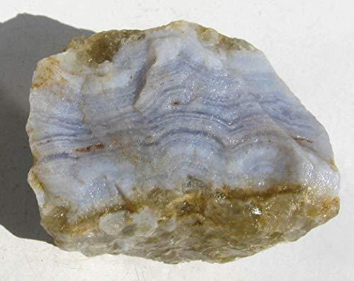 Edel-Depot Streifenchalcedon, Blauer Chalcedon, Rohstein 110 g.
