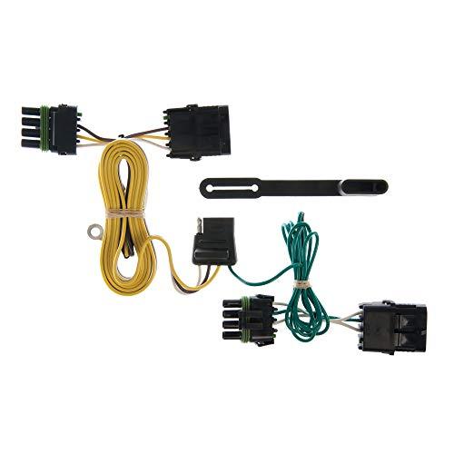 CURT 55356 Vehicle-Side Custom 4-Pin Trailer Wiring Harness, Select Jeep Wrangler TJ