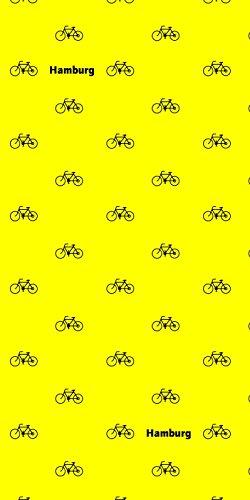 Had Originals Schlauchtuch - Hamburg Tuch Gelb mit schwarzen Bikes