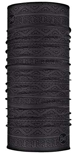 BUFF Standard CoolNet UV+ Multifunctional Headwear and Face Mask, Solid and Patterned Design, Ether Graphite, One Size