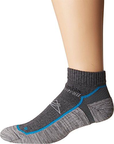 Columbia Unisex Trail Running XS Technology Lightweight Low Cut Socks-1 Pair, Grey, L