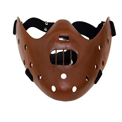 The Silence of the Lambs Hannibal Lecter Cosplay Resin Mask Halloween Costume Props (Brown, One size)