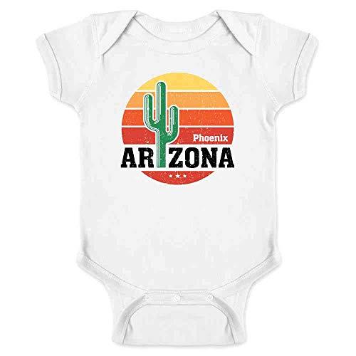 Phoenix Arizona Retro Travel White 6M Infant Baby Boy Girl Bodysuit