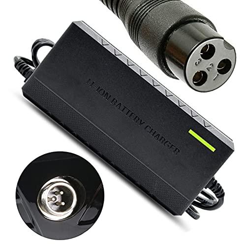 joyvio 24V 1.5A 36W Scooter eléctrico E100 E200 E300 Cargador de batería Estándar de 3 Clavijas en línea para Razor E100 E200 E300 E125 E150 E500 E175 PR200, MX350 E225S E325S, Pocket Mod