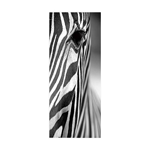 Pegatinas Puertas Decorativas 3D Cebra Autoadhesiva Extraíble Impermeable de Hogar Arte Moderno...