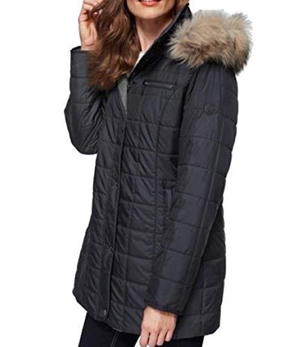 WINDFIELD by Danwear Steppjacke wärmende Damen Jacke mit Windschutz Outdoor-Jacke Übergangs-Jacke Marine, Größe:40