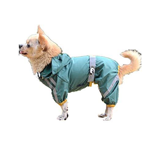 Goosuny Hunde wasserdichte Regenjacke Haustier Regenmantel Mit Kapuze Hundemantel Jacke Hunderegenmantel Mit Reflektierenden Outdoor Regenponcho Regen Kleidung