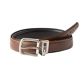 Tommy Hilfiger Reversible Leather Belt - Casual for Mens Jeans with Double Sided Strap and Silver Buckle, Brown/black, 36 (B003X26SBW) | Amazon price tracker / tracking, Amazon price history charts, Amazon price watches, Amazon price drop alerts