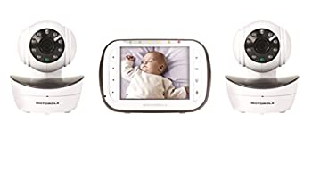 Motorola Digital Video Baby Monitor with 2 Cameras 3.5 Inch Color Video Screen Infrared Night Vision with Camera Pan Tilt and Zoom