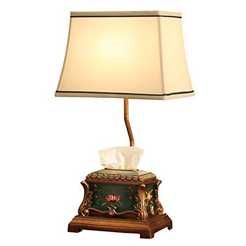 lampe de table grand étude Lumières de chambre Lampes de chevet Lampe d'étude Lumière d'humeur Lumière ambiante Café Liseuse Résine boîte à mouchoirs rangement A+