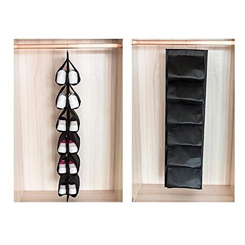HNZNCY Bolsa de almacenamiento para colgar armario armario de almacenamiento de zapatos para el hogar bolsa de almacenamiento organizador (negro)