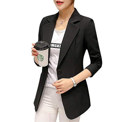 Blazer Dames Zwart Lente herfst Revers lange mouwen Business Jongens Chic Office Jacket Slim Fit Modern Vrouwenstijl Formal Pak Outwear