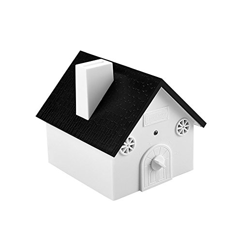 BovoYa Ultraschall Bark-Controller Deterrent Anti Barking Device Anti-Hundebell-Controller Anti-Bell-Kontrollsystem im Freien in Vogelhausform