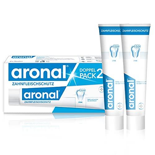 aronal Zahnpasta Zahnfleischschutz, Doppelpack (2 x 75 ml) - Zahncreme stärkt und schützt das Zahnfleisch, schützt wirksam vor Karies
