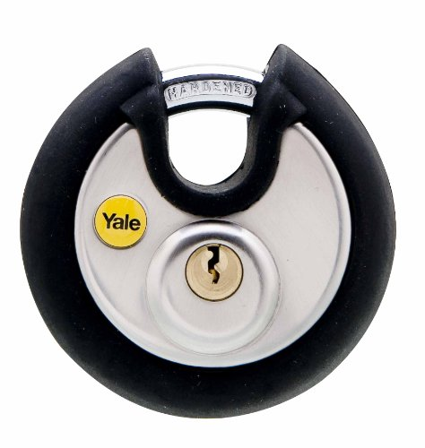 Yale Y130P/70/116/1 High Security Stainless Steel Disc Padlock, 70mm, pack of 1, suitable for vans and garages