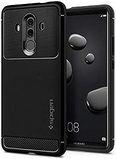 Spigen L19CS22665 robust rustning för Huawei Mate 10 Pro fodral kol look snygg mjuk flex TPU silikon skyddande fodral – svart