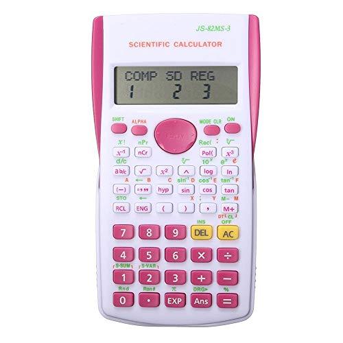 ERTYP Taschenrechner Multifunktionszähler Berechnung MachineSchool Studenten Funktion Rechner für Büro und Zuhause (Color : Rose, Size : One Size)