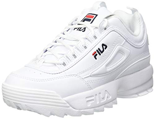 Fila Disruptor, Zapatillas, Blanco (White), 32 EU