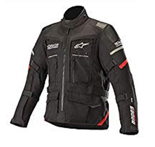 Andes Pro Drystar Waterpoof All-Weather Touring Motorcycle Jacket for Tech-Air Street Airbag System (Extra Large, Black Red)