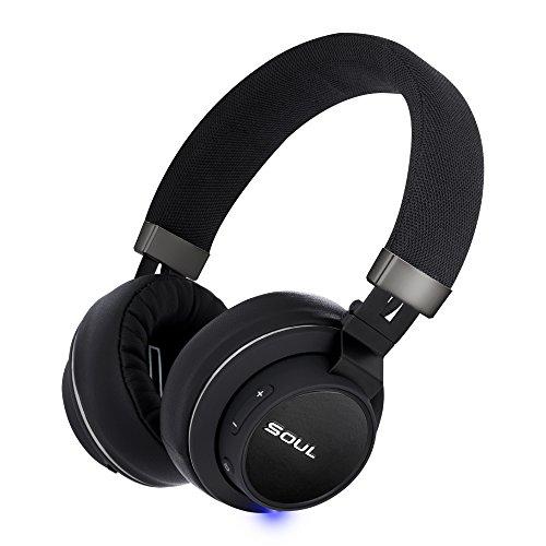 SOUL Electronics- IMPACT OE kabellose Over-Ear Kopfhörer mit Bluetooth 4.0, Musikerlebnis bis zu 14 St&en (Leichtgewicht, Dynamisch, Ergonomisch), Schwarz
