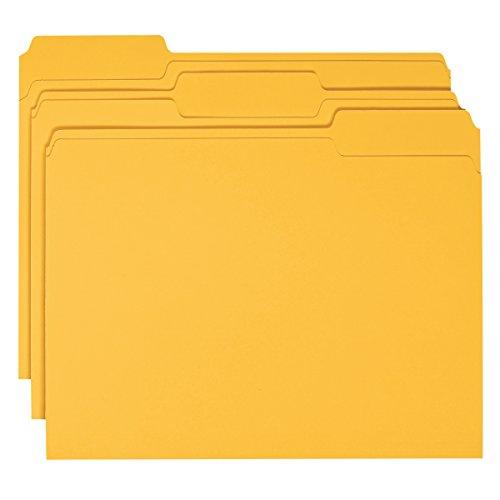 Smead File Folder, 1/3-Cut Tab, Letter Size, Goldenrod, 100 per Box (12243)