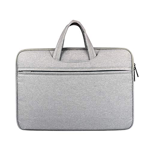 Bigpea Laptop Bag Men'S Briefcase Simple Office Business Tote For/Air/Pro Light Gray Polyester