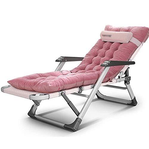 Home Outdoor/Terrasse Liege Liegestuhl Liege Klappstuhl Mittagspause Stuhl Strandkorb Schwerelosigkeit Stuhl Bürostuhl Sonnenliege Garten Handlauf Mehrzweckstuhl mit Kissen Leichtgewicht