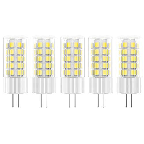 5X G4 LED Leuchtmittel 5W LED Lampen 36 SMD 2835LEDs Warmweiß 3000K LED Birnen 500LM Äquivalent zu 50W Halogen AC/DC 12V