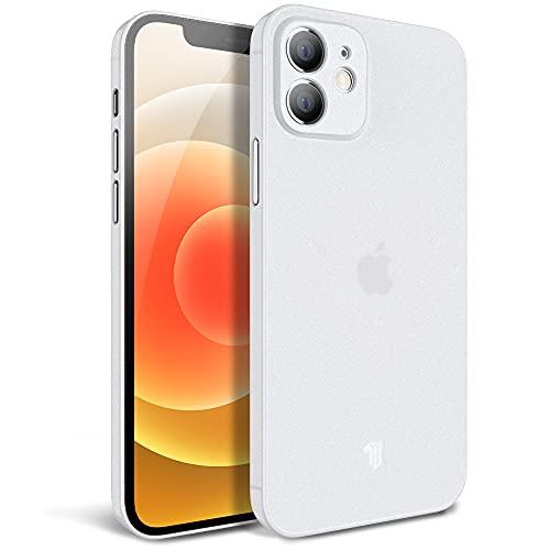 X-level für iPhone 12 Hülle, Feinmatt 0.3mm Superdünne Handyhülle Schutzhülle Schutzhülle Anti-Vergilbungs Hartschalen Tasche Schutzdesign Schutzhülle für iPhone 12 6.1 Zoll - Weiß