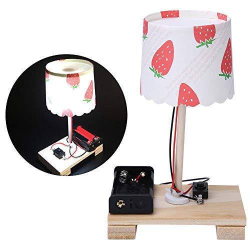 Tnfeeon Tecnología Pequeña producción, 2 Juegos Creativo DIY Lámpara de Mesa pequeña Material Experimento científico Pequeños Juguetes de invención Juguetes educativos tempranos para niños