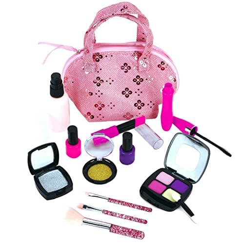 Set cosmetico per bambini Stite di trucco portatile Valigia Fashion Safe Pretend Play Puntelli Interactive Boy Educational Toy for Girls Artigianato