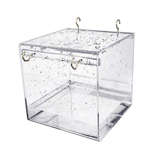 Hypeety Vogel-Badewanne für Papageien und Papageien, zum Aufhängen, mit Haken, Würfel, Vogel-Badewanne, Badewannenbox für kleine Vögel Papageien, S