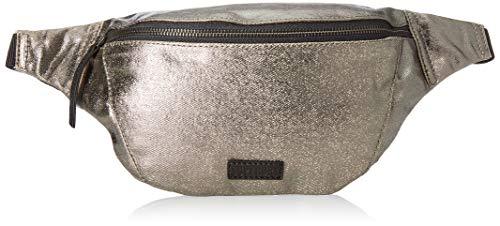 Superdry Damen Metallic Bum Bag Handgelenkstasche, Silber (Pewter), 3x15x37 cm