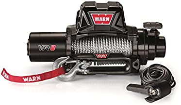 WARN 96800 VR8 12V Electric Winch with Steel Cable Rope: 5/16