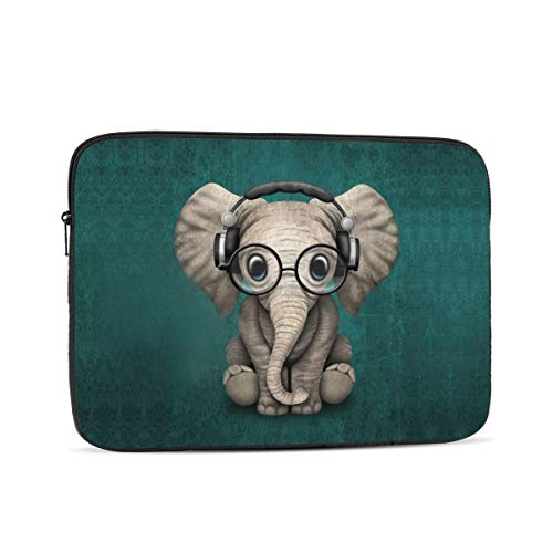 13 15 Inch Laptop Sleeve Bag Compatible with MacBook Pro Air Waterproof Shock Resistant Notebook Protective Bag Carrying Case with Small Case - Baby Elephant