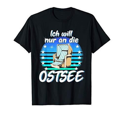 Ostsee Strandkorb Urlaub Meer Strand Fehmarn Küste T-Shirt