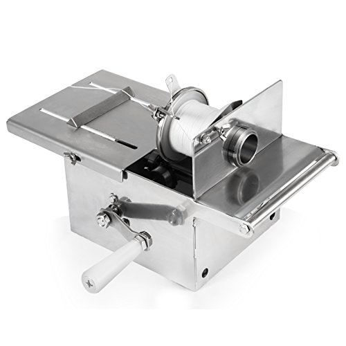 Happybuy Manual Sausage tying knotting machine 42mm Handle Sausage casings binding machine stainless steel for commercial home use (42mm with 5pcs Twine)