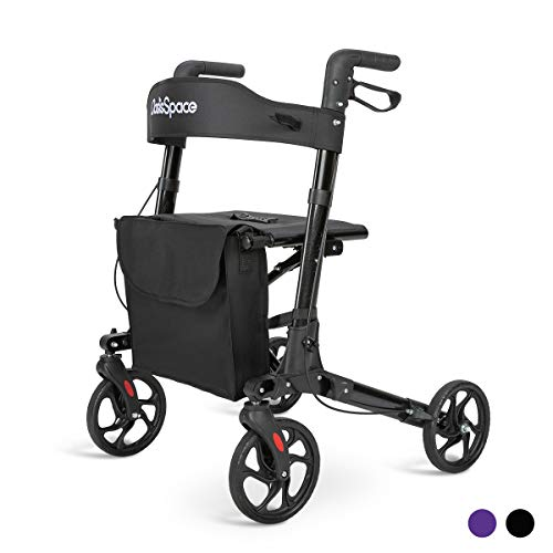 powerful Lightweight Oasis Space walker, compact foldable walker, 8-inch wheels and wide seats …