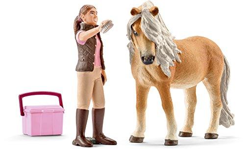 Schleich 41431 - Pferdepflegerin mit Island Pony Stute